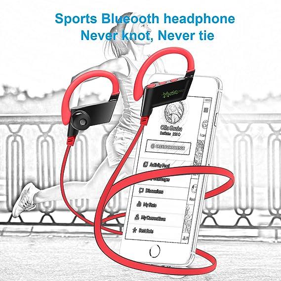 KELODO S808 auriculares Bluetooth Auriculares inalámbricos Auriculares deportivos Cancelación de ruido auriculares de bajo pesado estéreo Resistente a ...