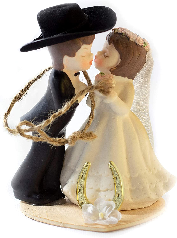 Amazon Com Western Wedding Cake Topper Table Decoration Kissing