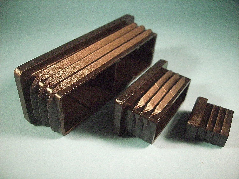 1 bouchon dimensions ext/érieures 120x30mm pour tubes carr/és noir