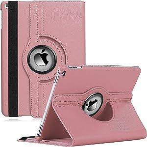 CenYouful iPad Mini Case Fit iPad Mini 3 case/ipad Mini 2 case/ipad Mini 1 case - 360 Degree Rotating Stand Case Cover with Auto Wake/Sleep Compatible Apple iPad Mini 1/2/3 case (Rose Gold)