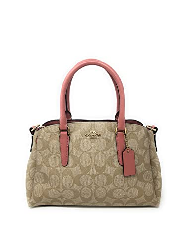 7ad8c1b8916c9 COACH MINI SAGE CARRYALL IN SIGNATURE CANVAS