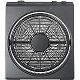 山善(YAMAZEN) 25cmボックス扇風機 (押しボタンスイッチ)(風量3段階) タイマー付 カーボンブラック YBT-D254(CBB)