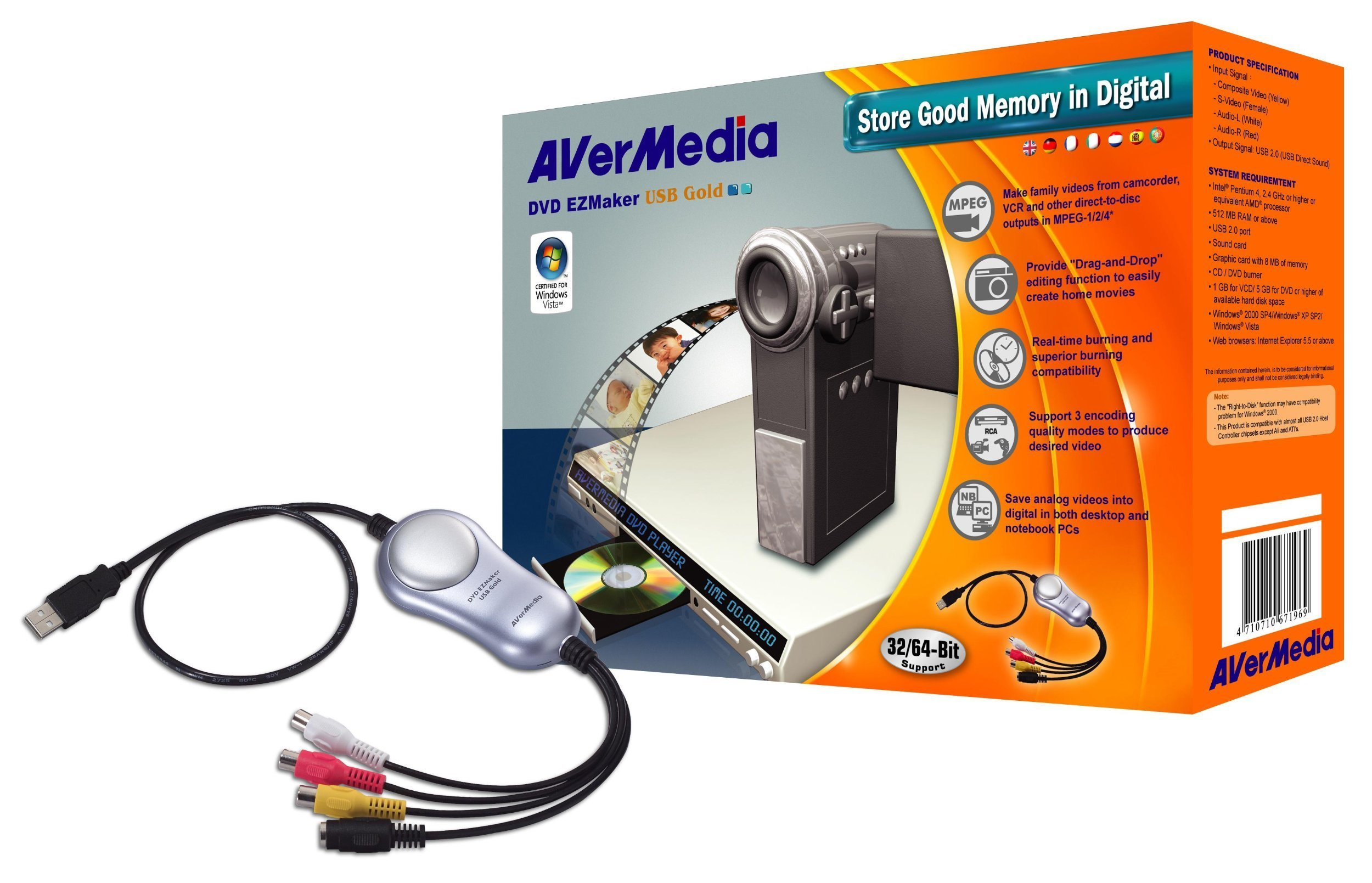 AVerMedia C038 DVD EZMaker USB Gold - convert VHS to DVD with ease by AVerMedia