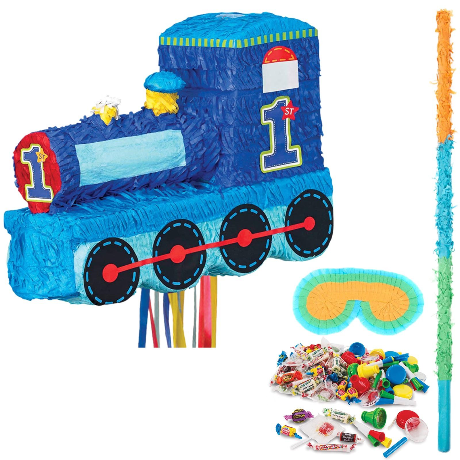 1st Birthday Train Party Supplies Pinata Kit