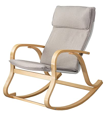 Orolay Comfortable Relax Rocking Chair Lounge Chair Grey