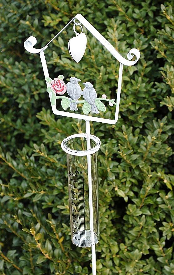 Pluviómetro Bancal Conector Planta Conector Jardín Conector Metal Cristal Blanco 105 cm: Amazon.es: Jardín