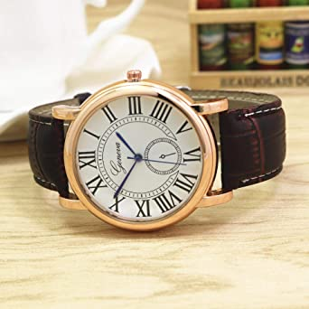 ac56ac71f Geneva Casual Watch For Men Analog Leather - W0374: Amazon.ae: MyWays