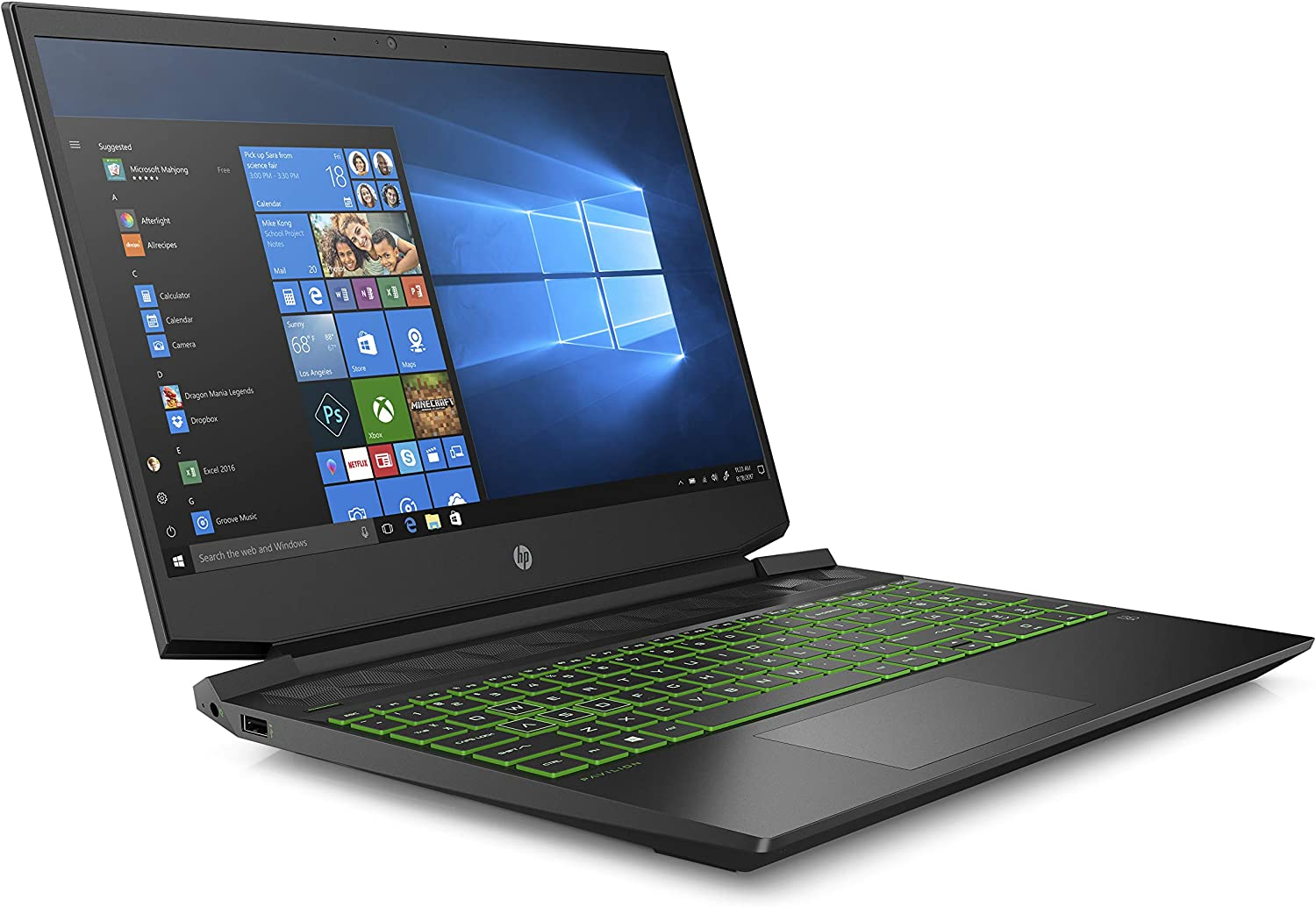 "HP - Gaming Pavilion 15-ec0000nl Notebook Gaming, Display 15,6"" FHD Antiriflesso IPS, AMD Ryzen 7, RAM da 8 GB, SSD da 512 GB, Nvidia GeForce GTX 1650 4GB, Nero Ombra"