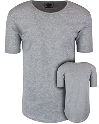 f57616f8086 ShirtBANC Mens Hipster Hip Hop Long Drop Tail T Shirts (Athletic Heather