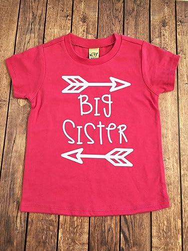 Amazon Com Big Sister Shirt Little Sister Shirt Personalized Shirt