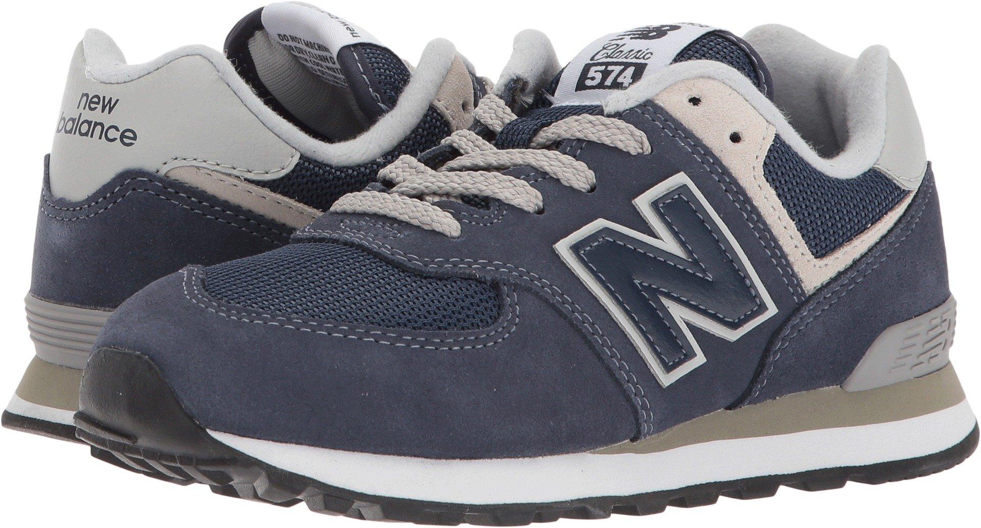 New Balance Boy's 574v1 Essentials Sneaker, Navy/Grey, 12 M US Little Kid