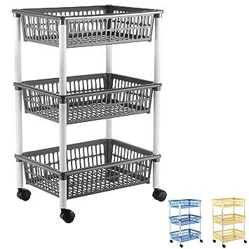 Amazon.de: axentia Küchenwagen mit 3 Körben, Transportwagen auf ...