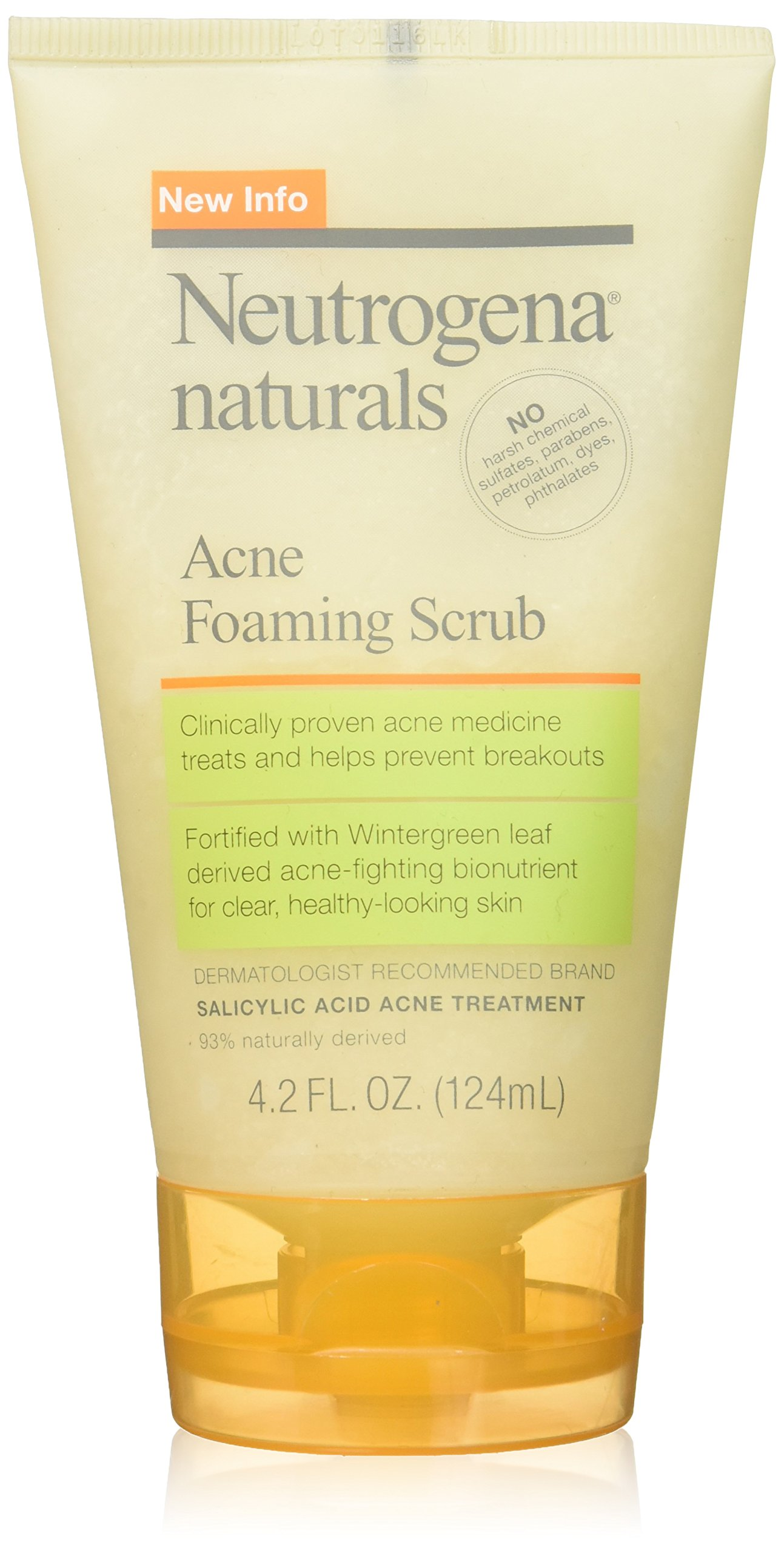 Neutrogena Naturals Acne Foaming Scrub, 4.2 Oz