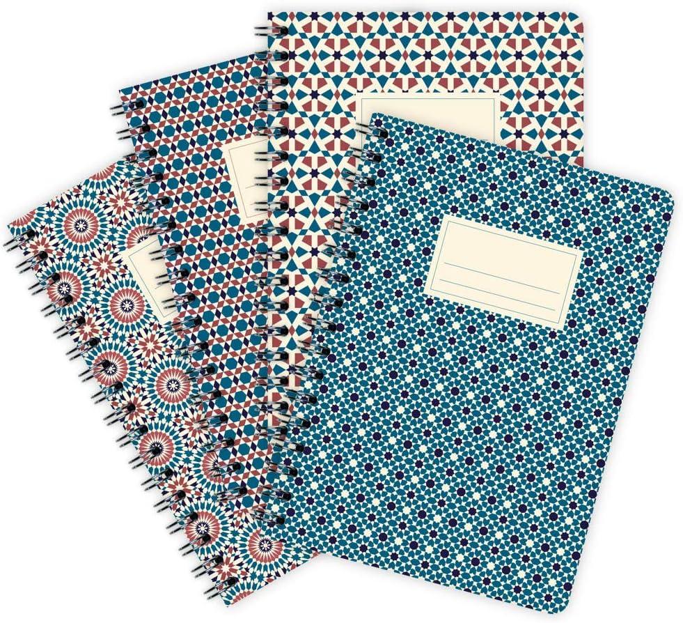 etmamu 701 Marokko Nr. 2 - Pack de 4 cuadernos A6, 60 hojas cuadriculadas: Amazon.es: Oficina y papelería