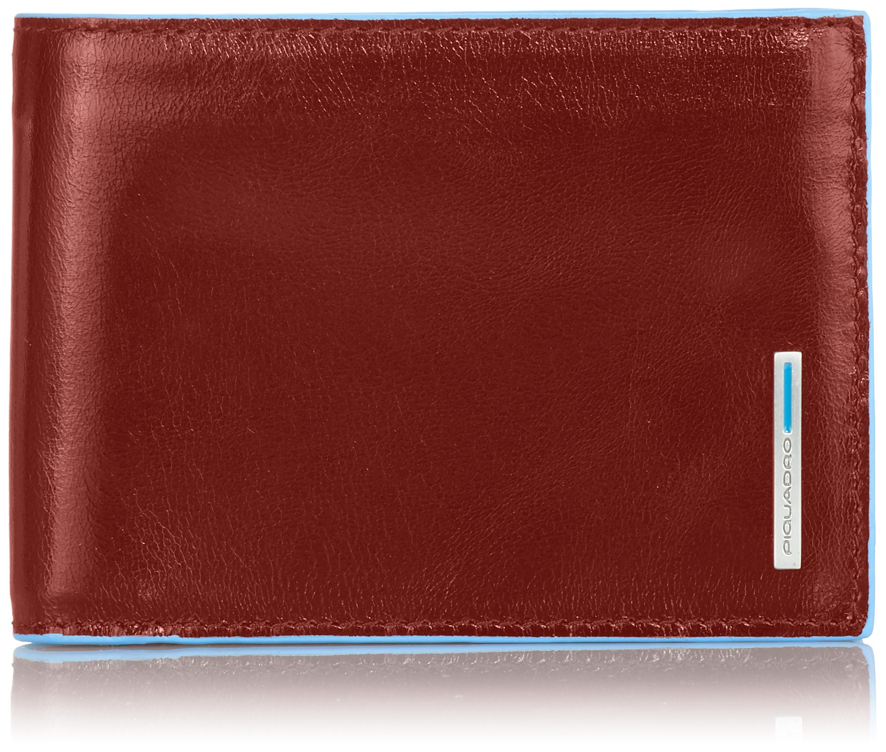 Piquadro Man's Wallet In Leather, Orange 1392, One Size