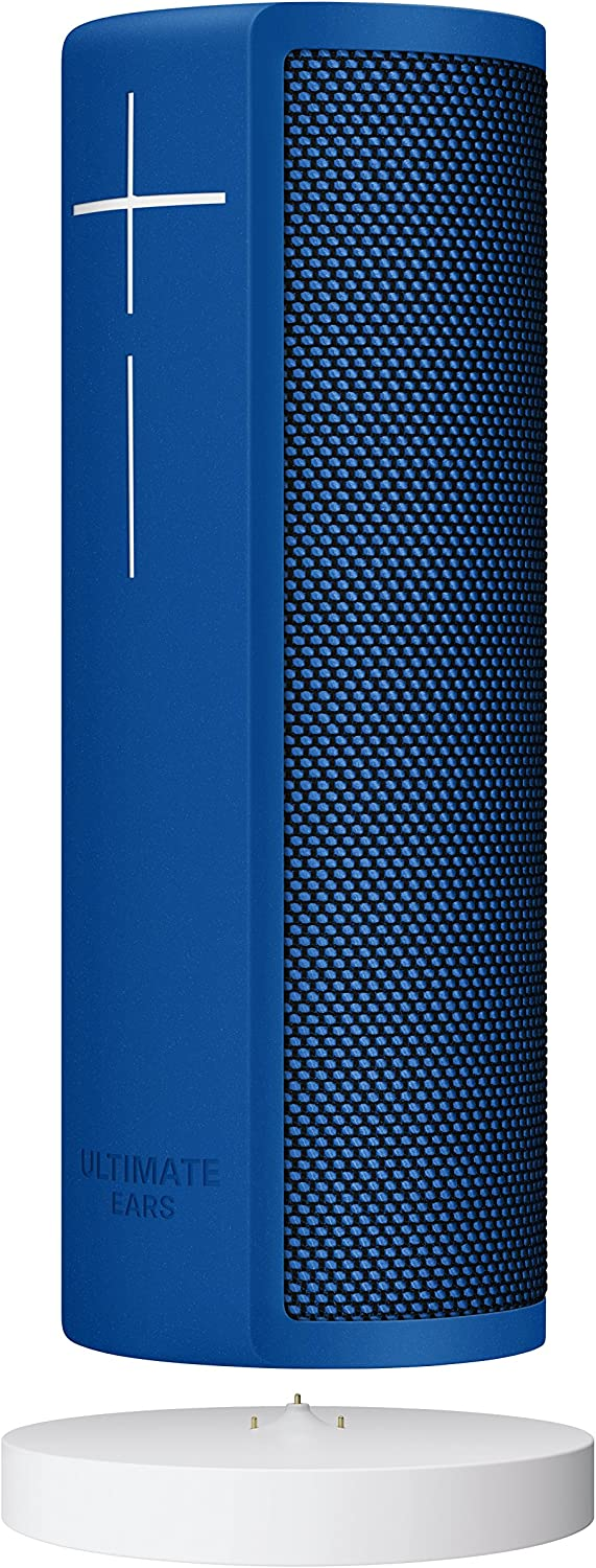 Ultimate Ears BLAST Portable Waterproof Wi-Fi and Bluetooth Speaker + Power Up Charging Dock with Hands-Free Amazon Alexa Voice Control- Blue Steel