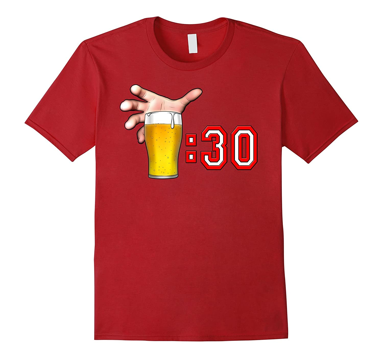 Beer Thirty - What Time Is It? Time To Drink Funny Drinking-TH