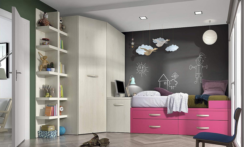 ambiato Juvenil Habitaciones Vita 26 Equipster Esquina Armario, Escritorio, estantería de Petre Sistema, Mucho Espacio