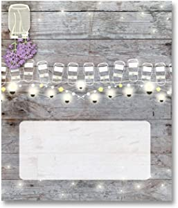 Stonehouse Collection Rustic Name Place Cards - 25 Wedding Guest Seating Name Cards - Party Table Tents - Name Cards (Rustic Mason Jars)