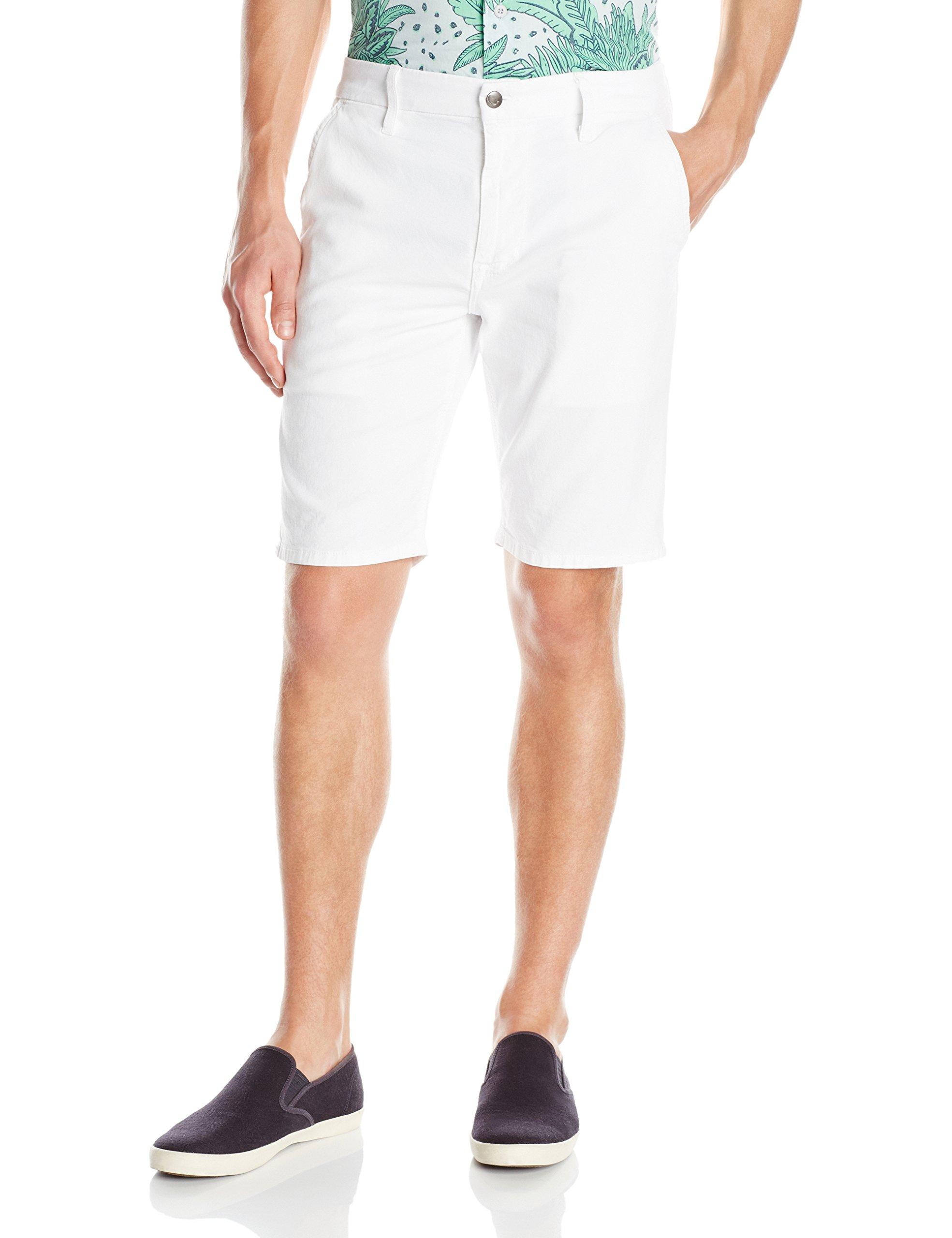 Joe's Jeans Men's Colored Brixton Stretch Canvas Trouser Short, Optic White, 32