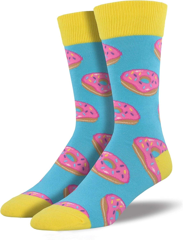 "Socksmith Mens' Novelty Crew Socks""Mmm.Donuts"" - 1 pair"