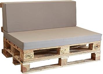 Asiento De Espuma Enfundado En Gris Para Sofa Palet Amazon Es Jardin