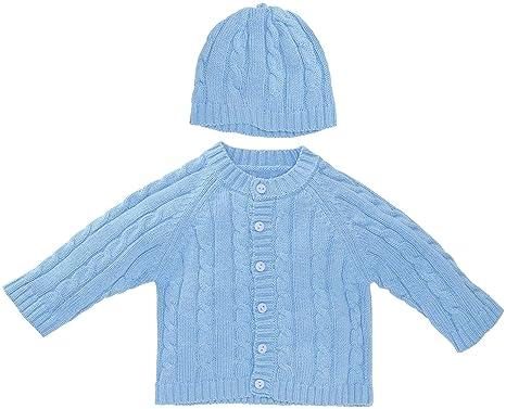 88fa8093e43e Amazon.com  Elegant Baby Sweater Set (Baby) - Blueberry-12 Months ...