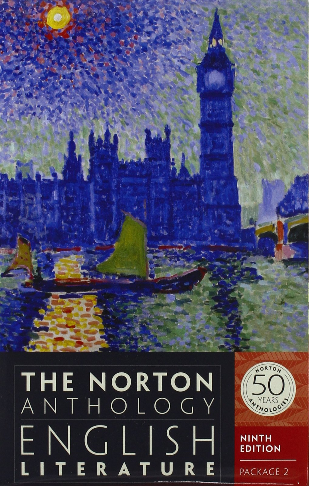 The Norton Anthology of English Literature (Ninth Edition)  (Vol. Package 2: Volumes D, E, F) by Greenblatt Stephen EDT