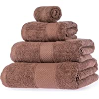 Homescapes Turkish Cotton Bathroom Towels Very Soft and Absorbent, 500 GSM Heavy Weight for everyday Luxury