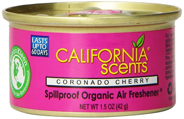 California Scents Spillproof Organic Air Freshener, Coronado Cherry, 1.5 Ounce Canister