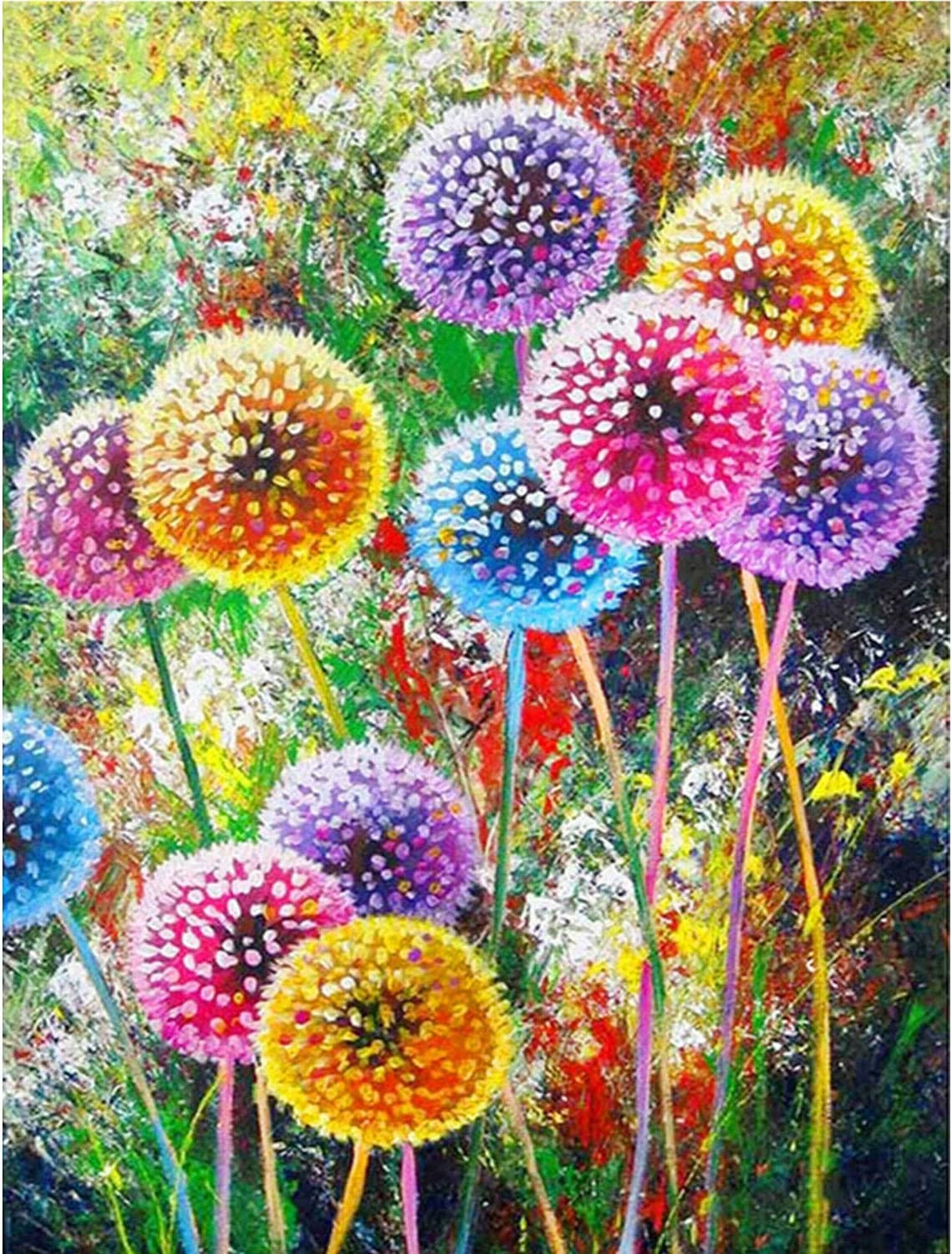 DIY 5D Diamond Painting Kits for Adult Kids Daisy Full Drill Crystal Painting by Number Kits,Embroidery Pictures Arts Craft for Home Wall Decor Gift 2pack,11.8X15.7inch