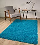 "TEAL BLUE LUXURIOUS THICK SHAGGY RUGS 7 SIZES AVAILABLE 60cmx110cm (2ft x 3ft7"")"
