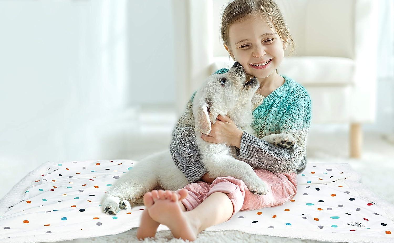 Allisandro Pet Manta de Doble Capa para Perro, Gato, Cachorro, Gatito de un Lado de Terciopelo, Franela Supersuave de un Lado: Amazon.es: Productos para ...