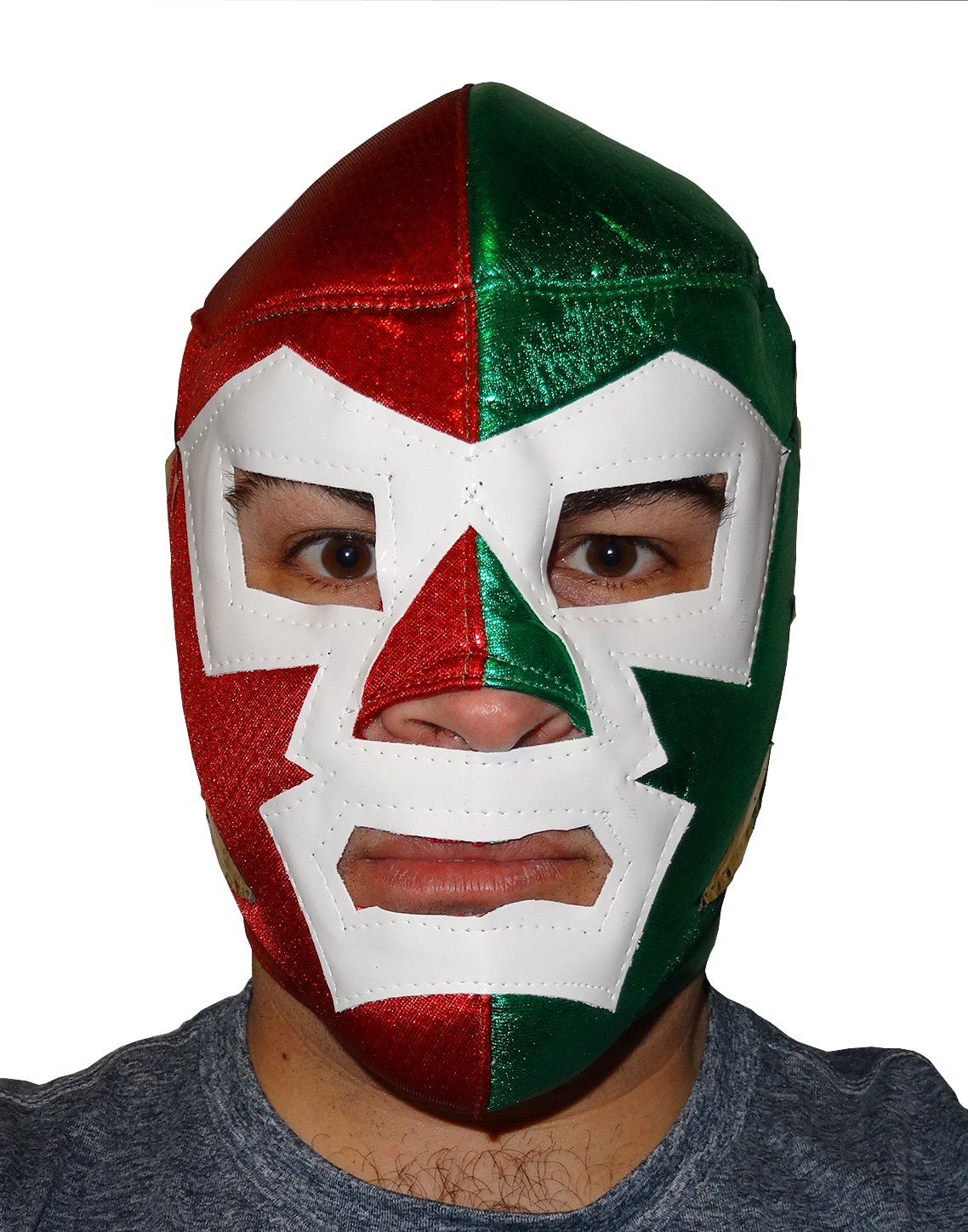 DR. WAGNER Adult Lucha Libre Wrestling Mask (pro-fit) Costume Wear - Red/Green