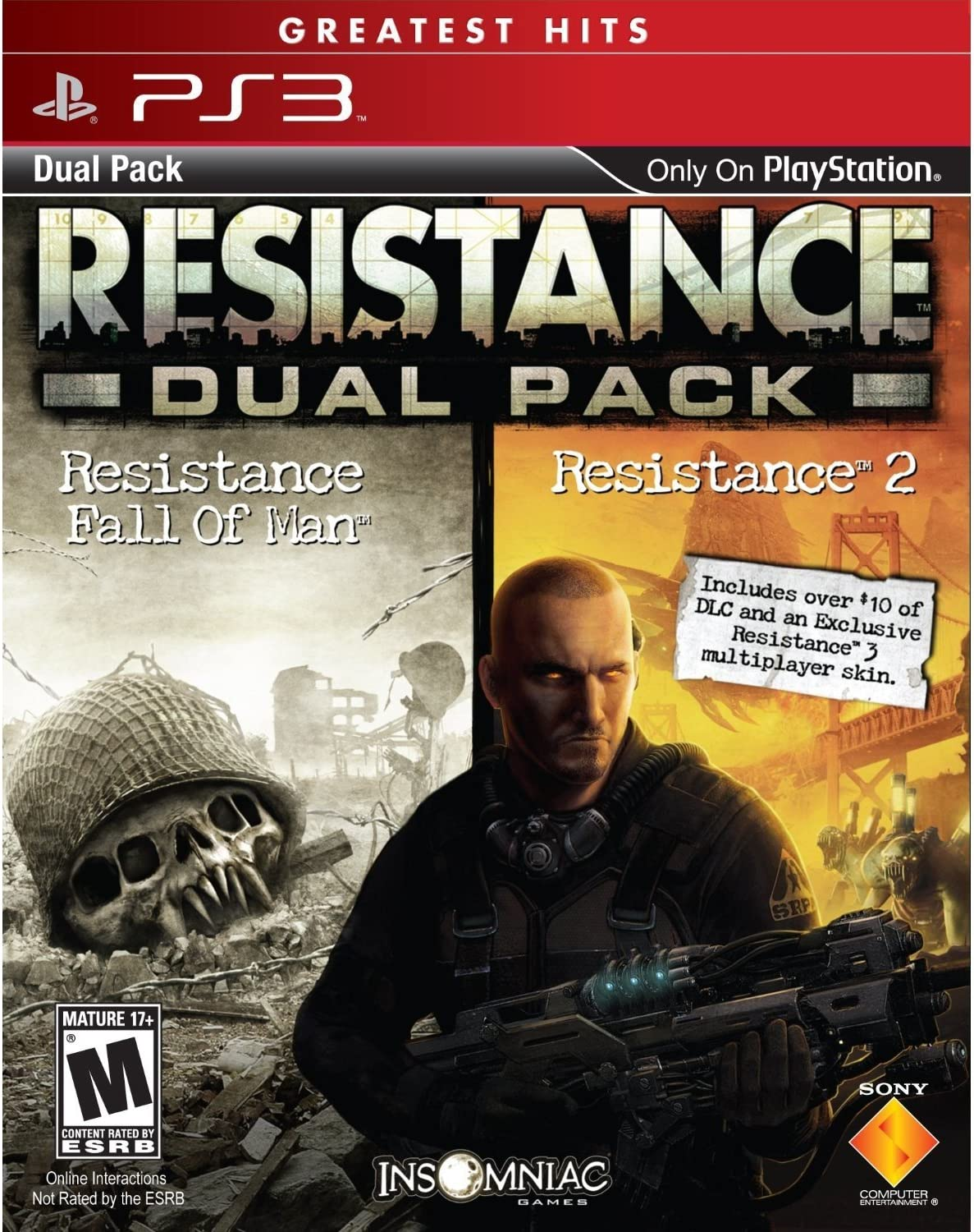 Amazoncom Resistance Greatest Hits Dual Pack Playstation