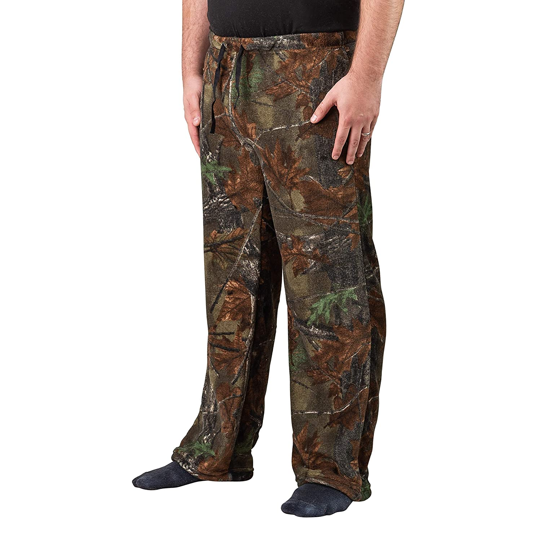 92307b270f TrailCrest Men s Ultra Soft Coral Fleece Camo Lounge Pajama Pants -  Sleepwear at Amazon Men s Clothing store
