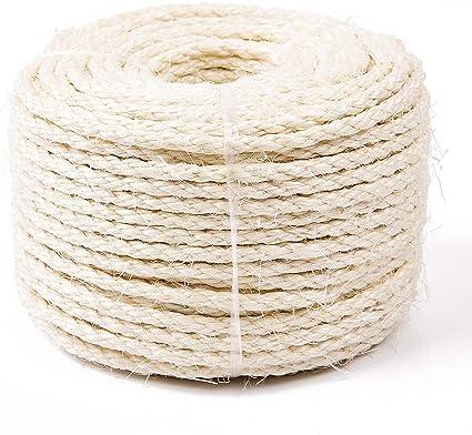 Hemp Rope for Repai Cat Natural Sisal Rope for Scratching Post Tree Replacement
