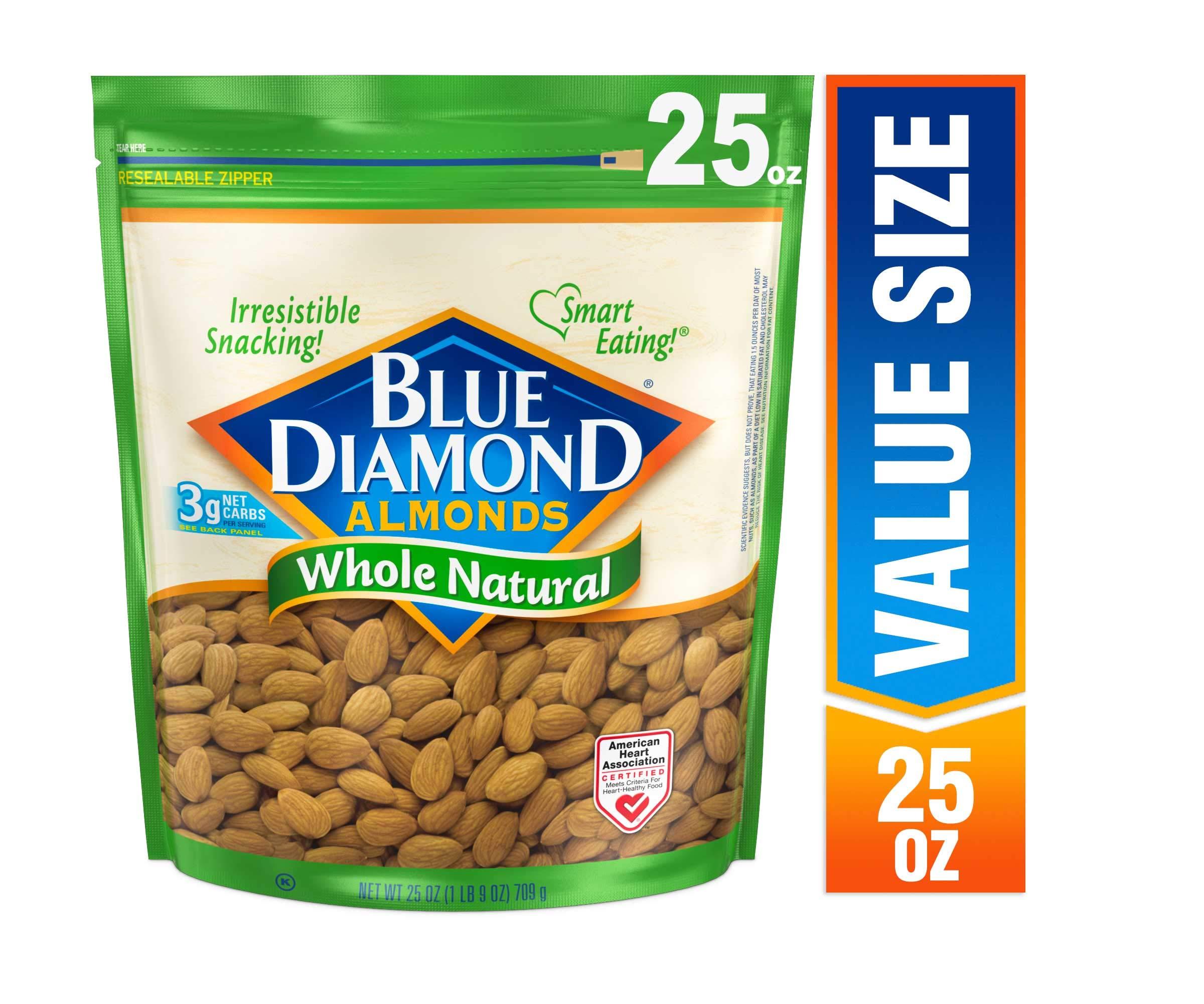 Blue Diamond Almonds, Raw  Whole Natural, 25 Ounce by Blue Diamond Almonds