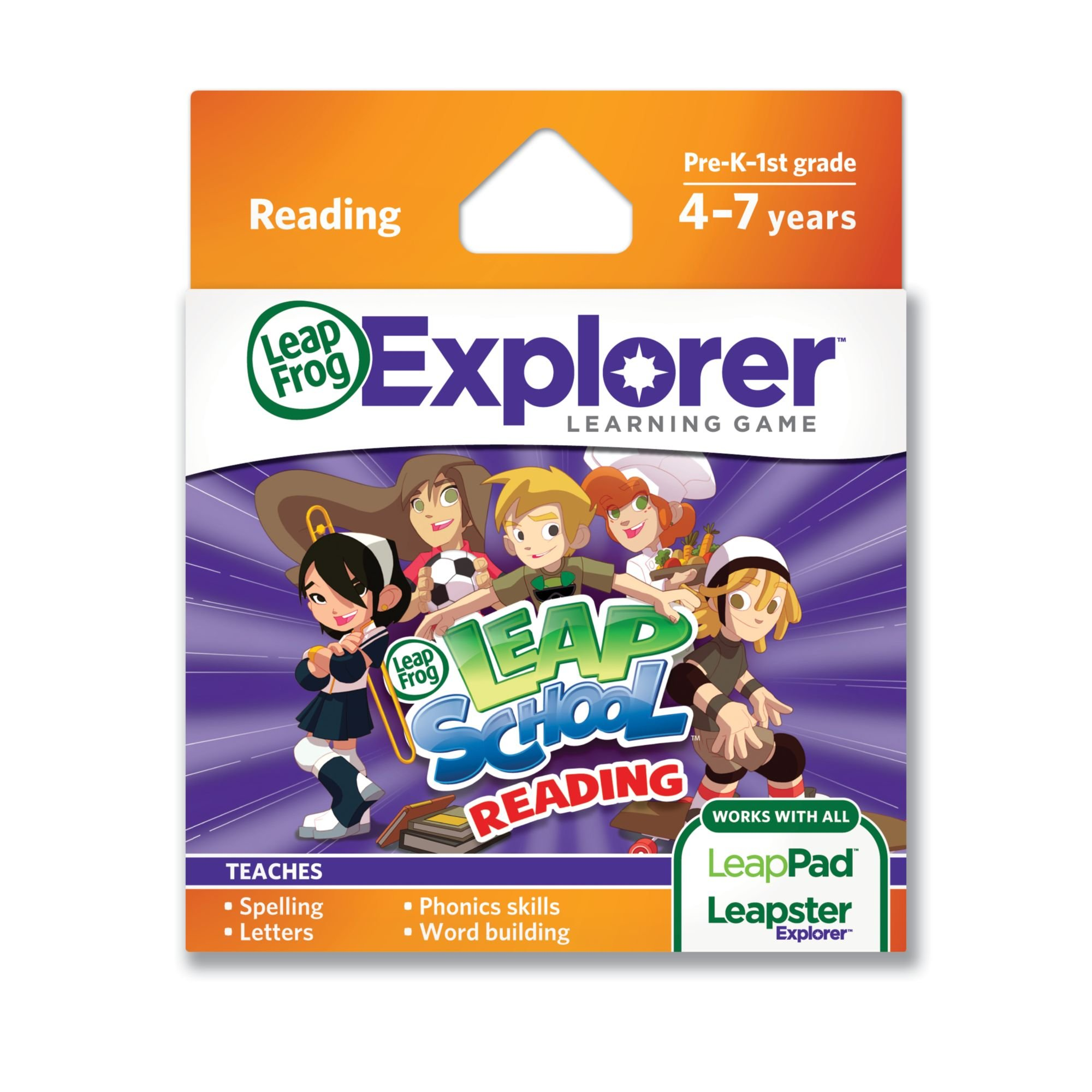 LeapFrog LeapSchool Reading Learning Game (works with LeapPad Tablets, LeapsterGS, and Leapster Explorer) by LeapFrog