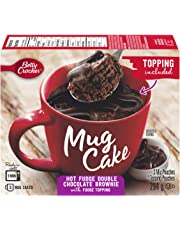 Betty Crocker Mug Cake Hot Fudge Double Chocolate Brownie with Fudge Topping, 294 Grams