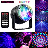 Disco Ball Party Kids Lights, 5W RGBWP LED Magic Crystal Rotating Mini Strobe Light DJ Lighting Sound Activated Stage Lights for Christmas Home Party Supplies