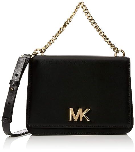 fa93cbd11b Michael Kors Mott Leather Crossbody - Borse a tracolla Donna, Nero (Black),