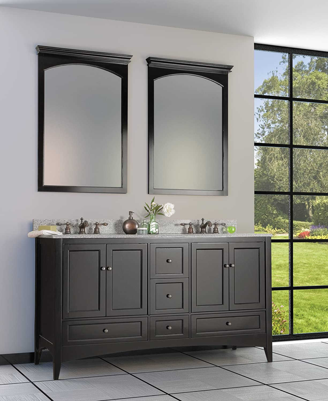 Foremost BECA6021D Berkshire 60 Inch Espresso Bathroom Vanity     Amazon.com