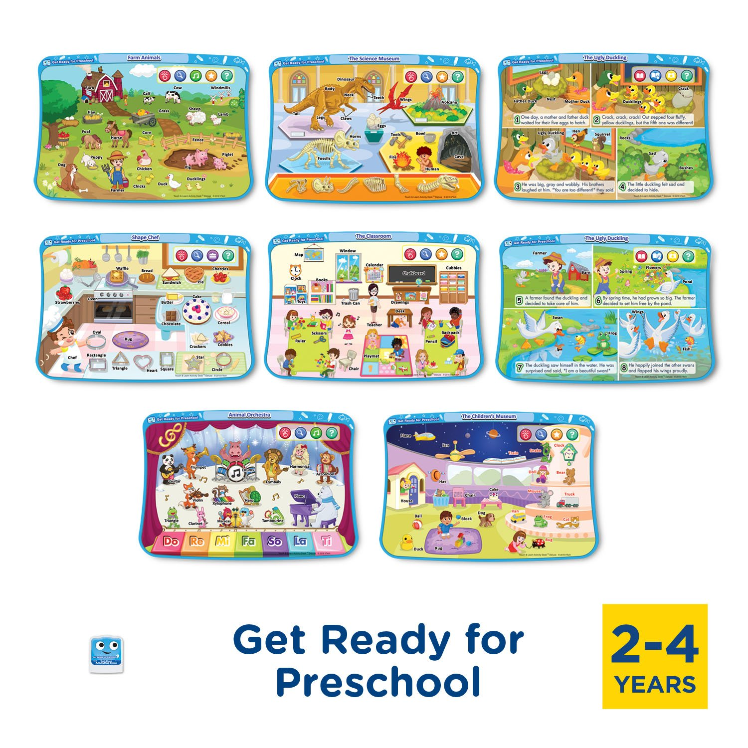 VTech Touch & Learn Activity Desk Deluxe 4-in-1 Preschool Bundle Expansion Pack I for Age 2-4 by VTech (Image #3)