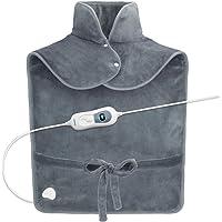 RENPHO verwarmingsmatras voor verlichting van rugpijn, 60 x 90 cm gewogen verwarmingsmatras voor nek en schouders…