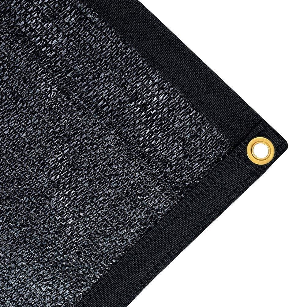 JTsuncover- Black 75% Shade Cloth Mesh Sun Block Net Mesh Shade for Garden Patio UV Resistant - Grommets Each 1ft - 10 ft x 20 ft