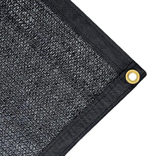JTsuncover- Black 75 Shade Cloth Mesh Sun Block Net Mesh Shade for Garden Patio UV Resistant – Grommets Each 1ft – 10 ft x 20 ft