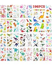Zooawa Cartoon Dinosaur Temporary Tattoo Sticker, [28 Sheet] Kids Cute Dino Tattoos Waterproof & Removable Body Stickers Festival Party Favor Fake Tattoos Stickers Set for Boys and Girls, Colorful