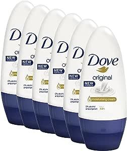 Dove Women Antiperspirant Roll On Deodorant Original, 6x 50mL