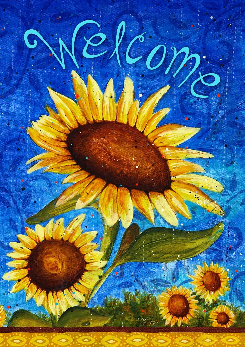 Toland Home Garden Sweet Sunflowers 28 x 40 Inch Decorative Summer Welcome Flower Double Sided House Flag